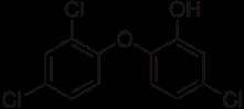 Estrutura química do triclosan