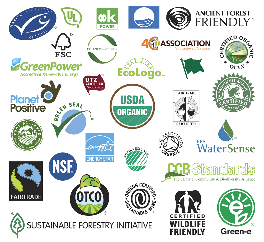 Greenwashing e a proliferação de selos verdes em cosméticos.