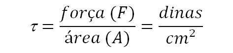 Equação da tensão de cisalhamento. reologia O que é reologia? POST 20160808 Equacao1