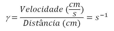 Equação da taxa de cisalhamento. reologia O que é reologia? POST 20160808 Equacao2