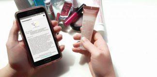 Exemplo de uso do aplicativo Cosmetopeia