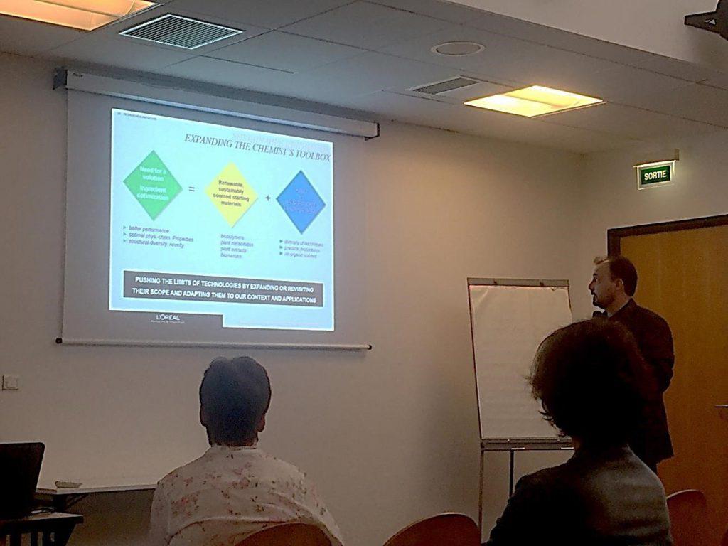 Palestra de Julien Hitce no International Symposium on Green Chemistry