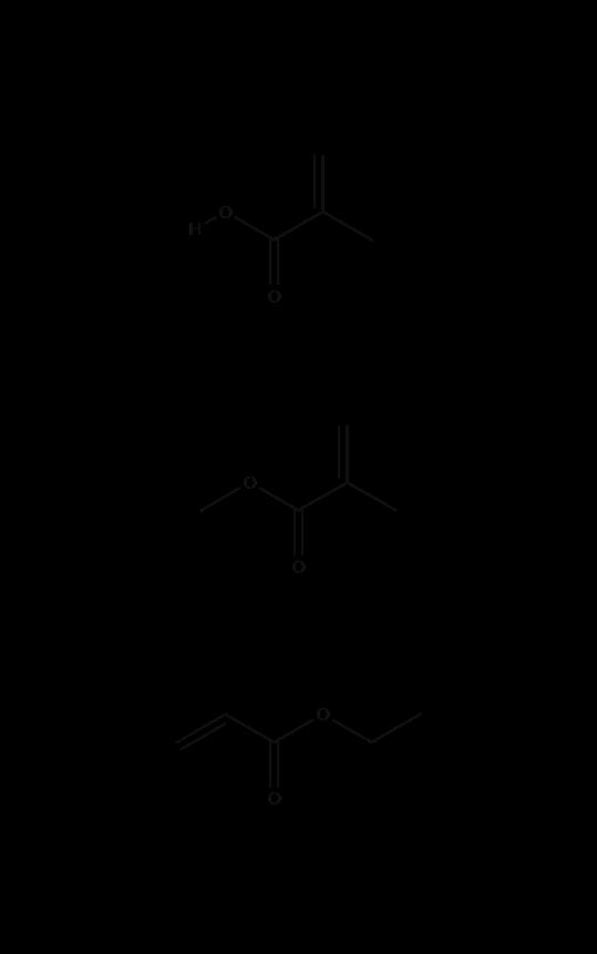 estrutura química do ingrediente cosmético Acrylates Copolymer