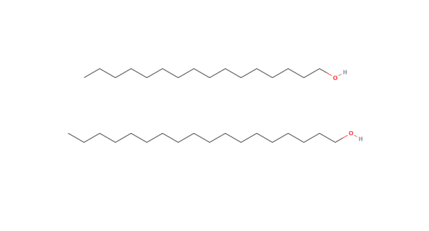 Estrutura química do Álcool cetoestearílico (Cetearyl Alcohol)