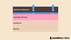 mecanismo de umectação ativa na hidratação da pele