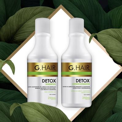 Shampoo e Condicionador G hair detox   G.Hair Cosméticos tem linha Detox 20190506 ghair detox