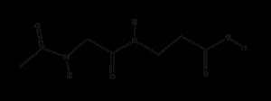 Acetyl Glycyl Beta-Alanine Acetyl Glycyl Beta Alanine structural formula e1566779239444 300x112