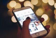 celular com pessoa selecionando filtros do instagram