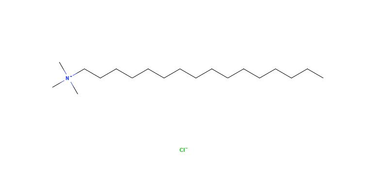 estrututra química do cloreto de cetrimônio (cetrimonium chloride)