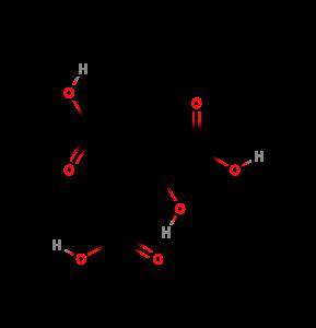 estrutura química do ácido cítrico (citric acid)