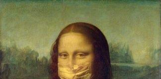 monalisa usando máscara